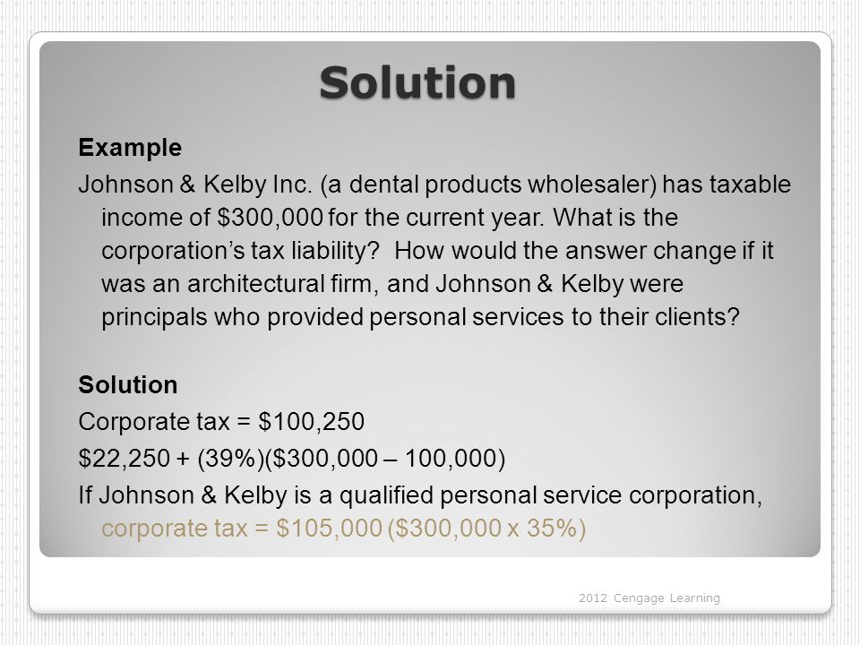 Solution Example Johnson & Kelby Inc.