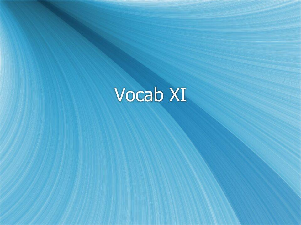 Vocab XI