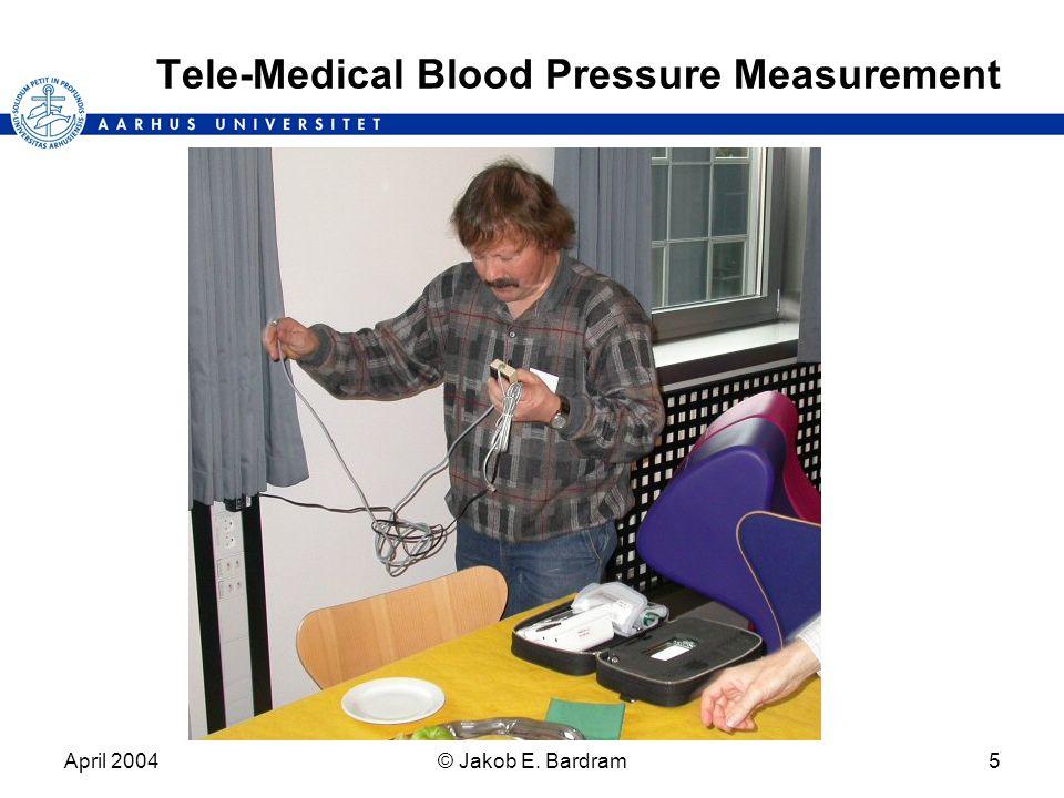 April 2004© Jakob E. Bardram5 Tele-Medical Blood Pressure Measurement