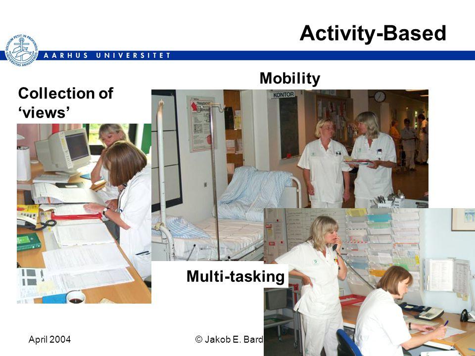 April 2004© Jakob E. Bardram8 Activity-Based Mobility Multi-tasking Collection of 'views'