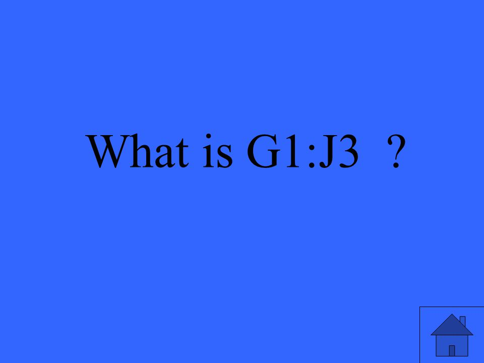 A range of cells that includes rows 1,2, & 3 for columns G, H, I, and J
