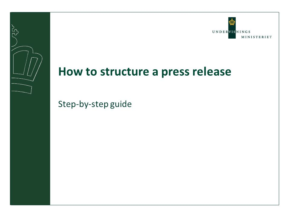 How to structure a press release Step-by-step guide