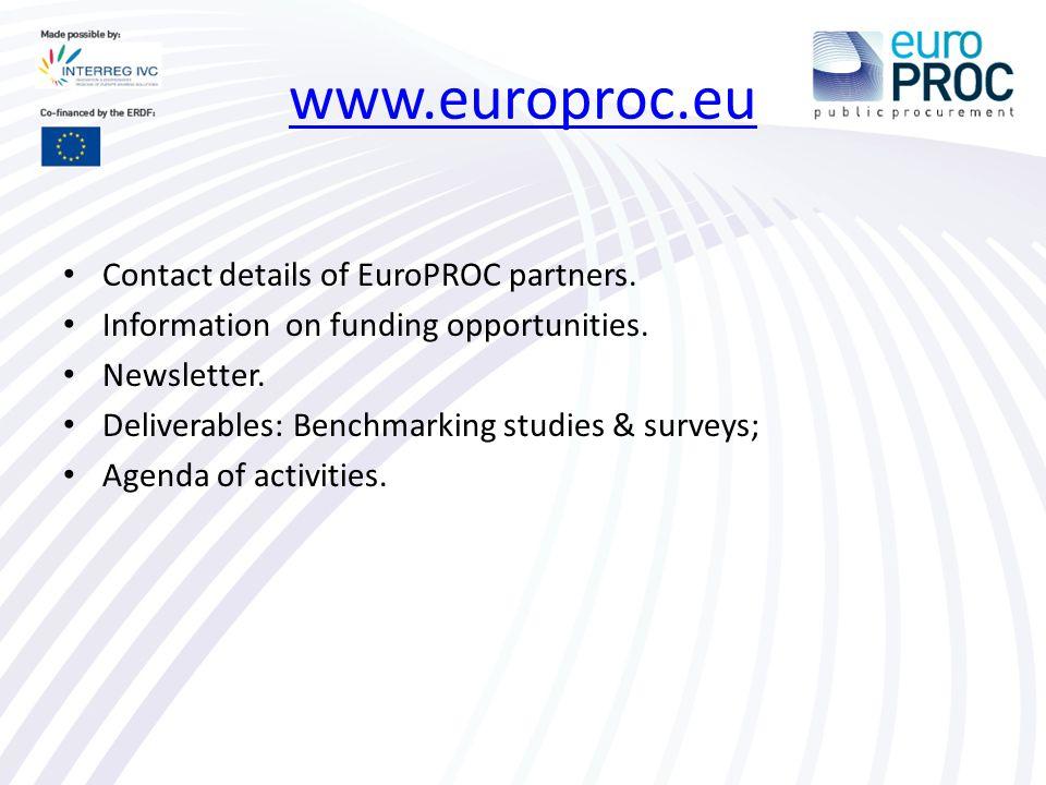 www.europroc.eu Contact details of EuroPROC partners.