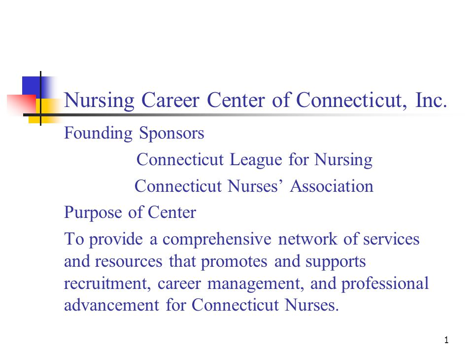 1 Nursing Career Center of Connecticut, Inc.