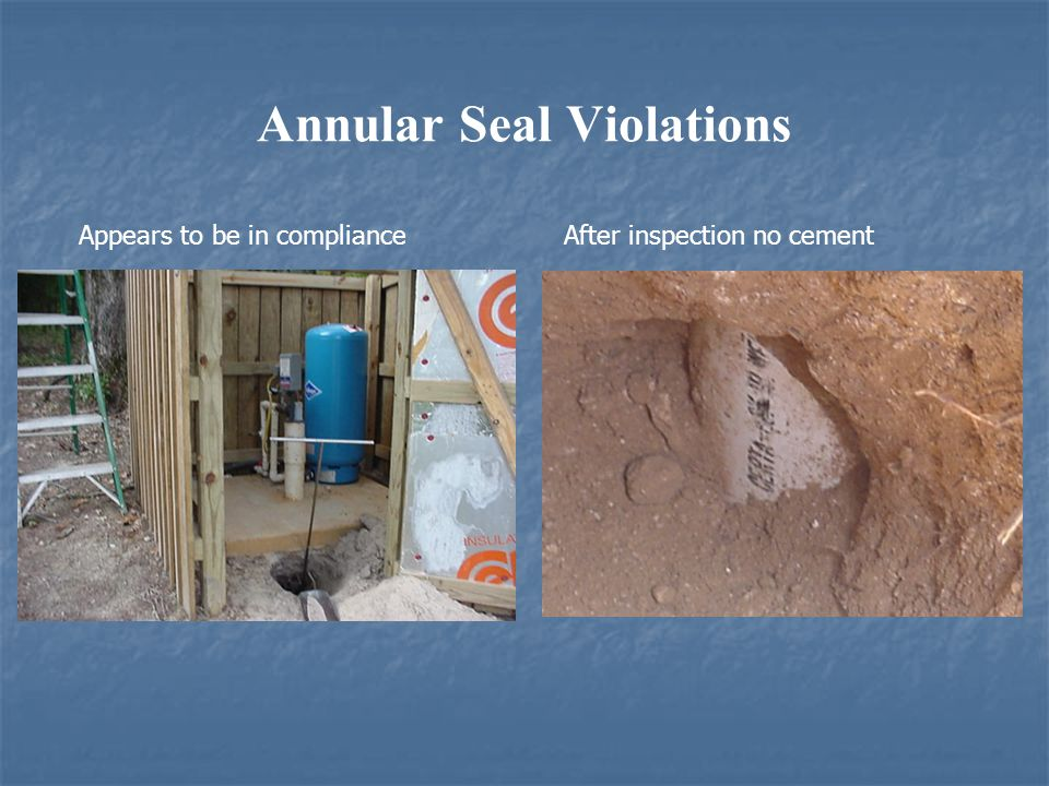 Annular Seal Violations Appears to be in compliance After inspection no cement