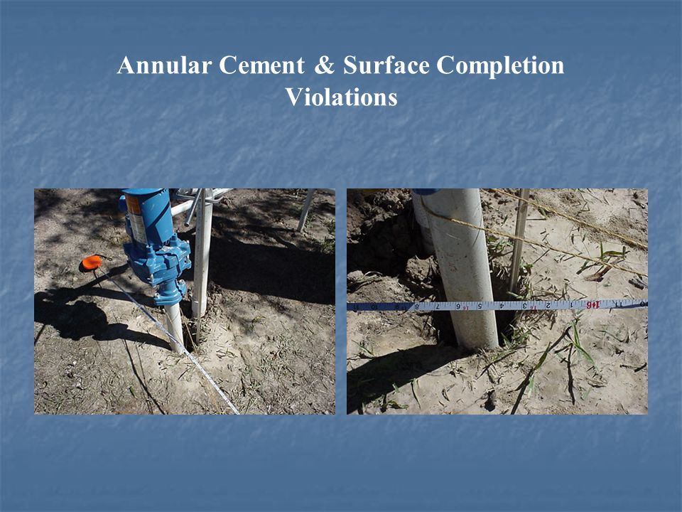 Annular Cement & Surface Completion Violations