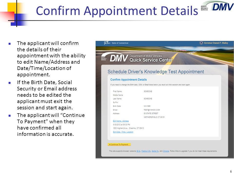 Cancel Appointment The applicant may cancel their appointment by entering their PIN and selecting the Reschedule or Cancel button.