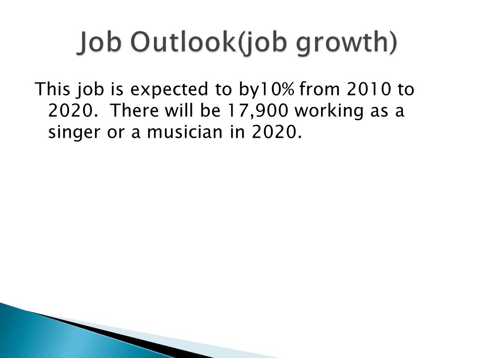 This job is expected to by10% from 2010 to 2020.