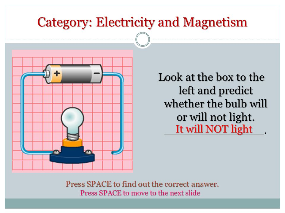 Category: Electricity and Magnetism Name the type of circuit in the diagram to the left.