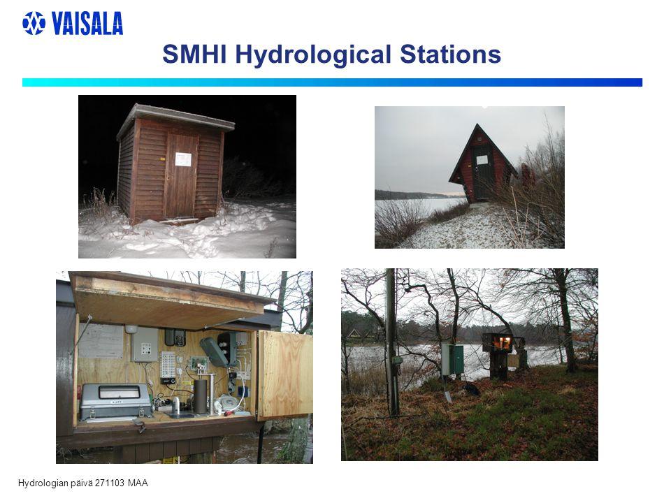Hydrologian päivä 271103 MAA SMHI Hydrological Stations