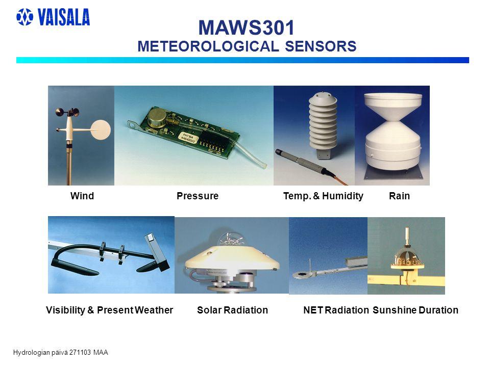 Hydrologian päivä 271103 MAA MAWS301 METEOROLOGICAL SENSORS WindPressureTemp.