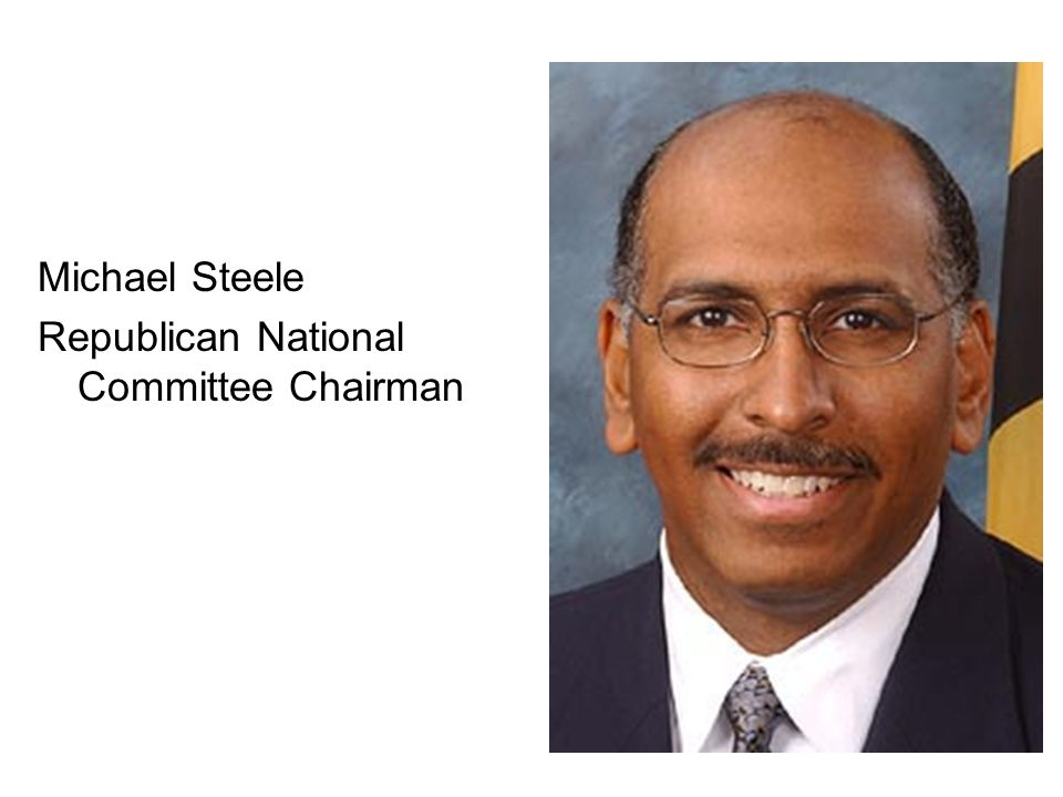 Michael Steele Republican National Committee Chairman
