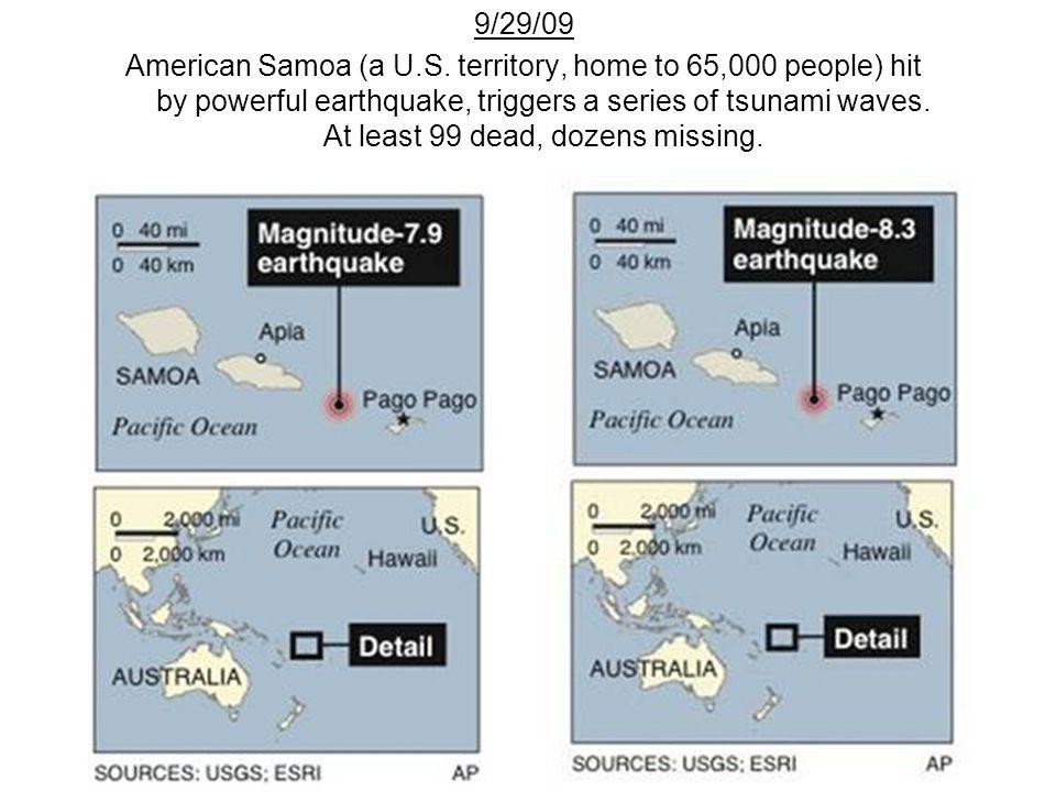 9/29/09 American Samoa (a U.S.