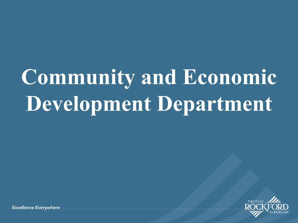Community and Economic Development Department