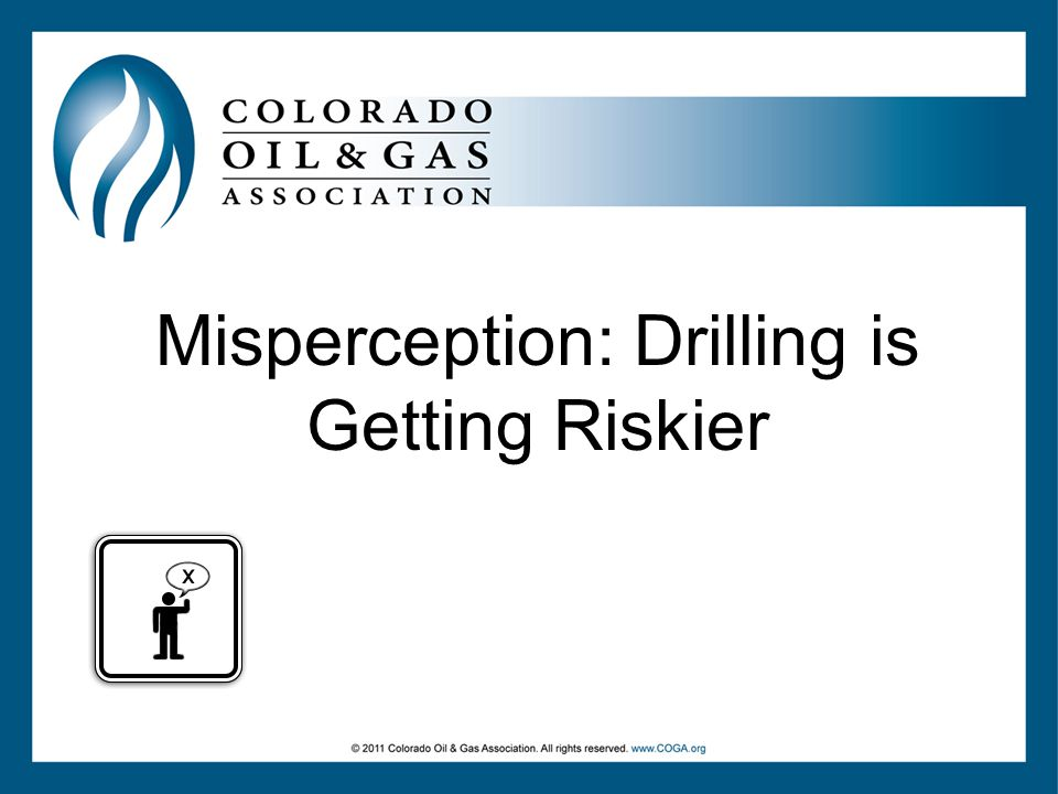 Misperception: Drilling is Getting Riskier