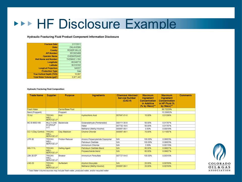 HF Disclosure Example