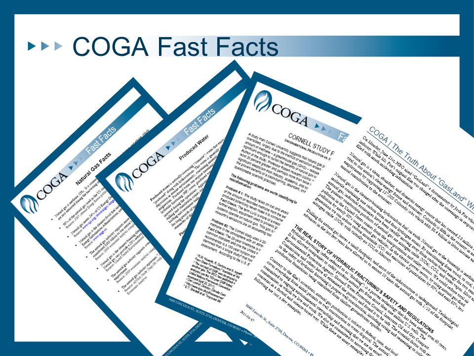 COGA Fast Facts