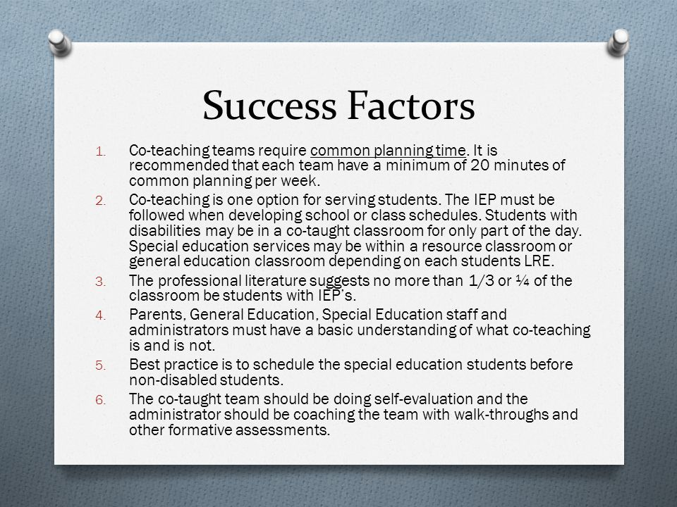 Success Factors Mutual Goal Divide Labor True Partnership Must have communication Cooperation Contribution of both members Blending of teaching styles Dedicated to one another ULTIMATE GOAL A PERFECT MATCH: FAMILY