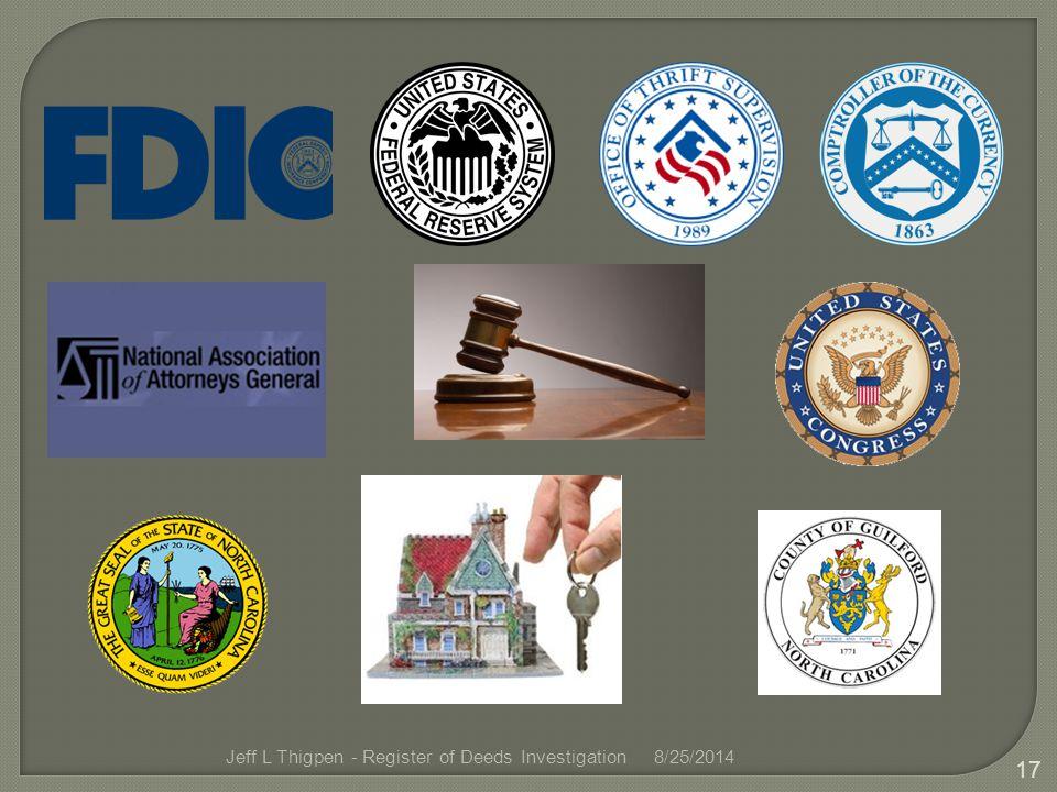 Jeff L Thigpen - Register of Deeds Investigation8/25/2014 17