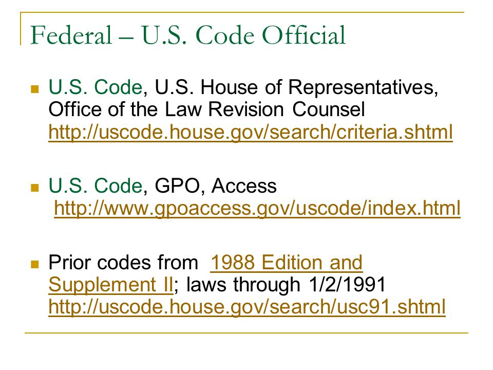 Federal - Regulations CFR -1996 through current year http://www.gpoaccess.gov/cfr/index.html http://www.gpoaccess.gov/cfr/index.html Federal Register - 1994 (Volume 59) through 2008 (Volume 73) http://www.gpoaccess.gov/fr/index.html List of CFR Sections Affected -1986 through 2007 http://www.gpoaccess.gov/lsa/index.html Go to http://listserv.access.gpo.gov/ to sign up to receive the Federal Register Table of Contents free via e-mail through the listserv FEDREGTOC-Lhttp://listserv.access.gpo.gov/FEDREGTOC-L
