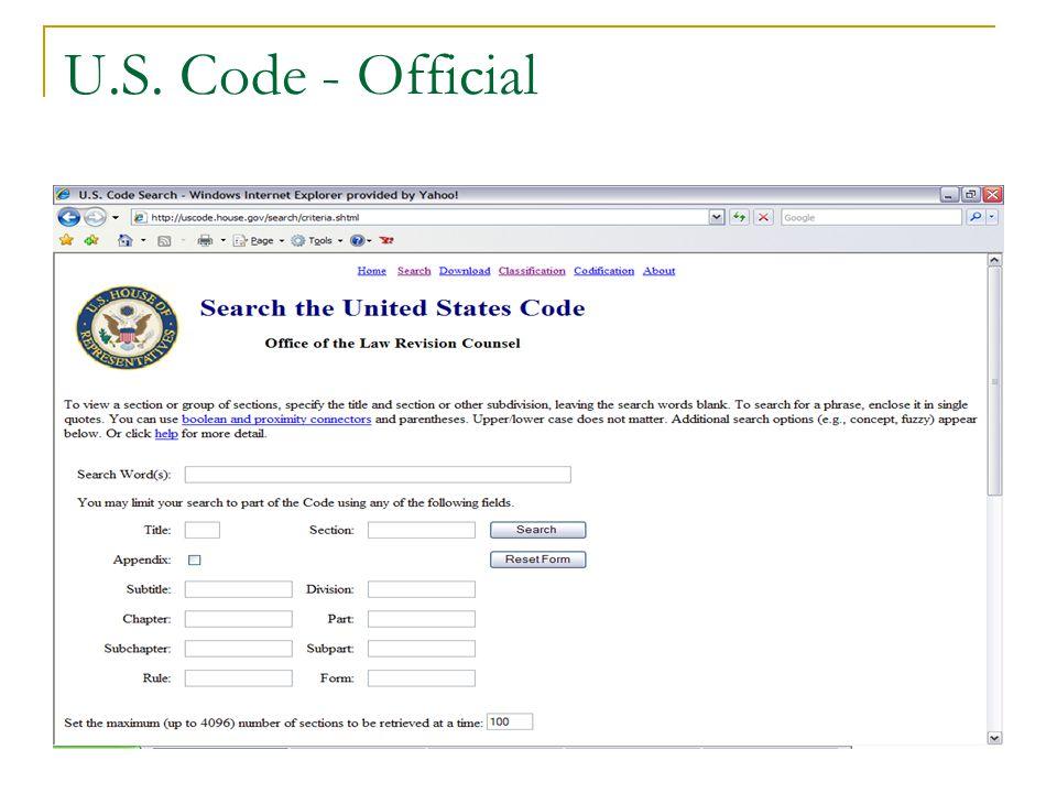 U.S. Code - Official
