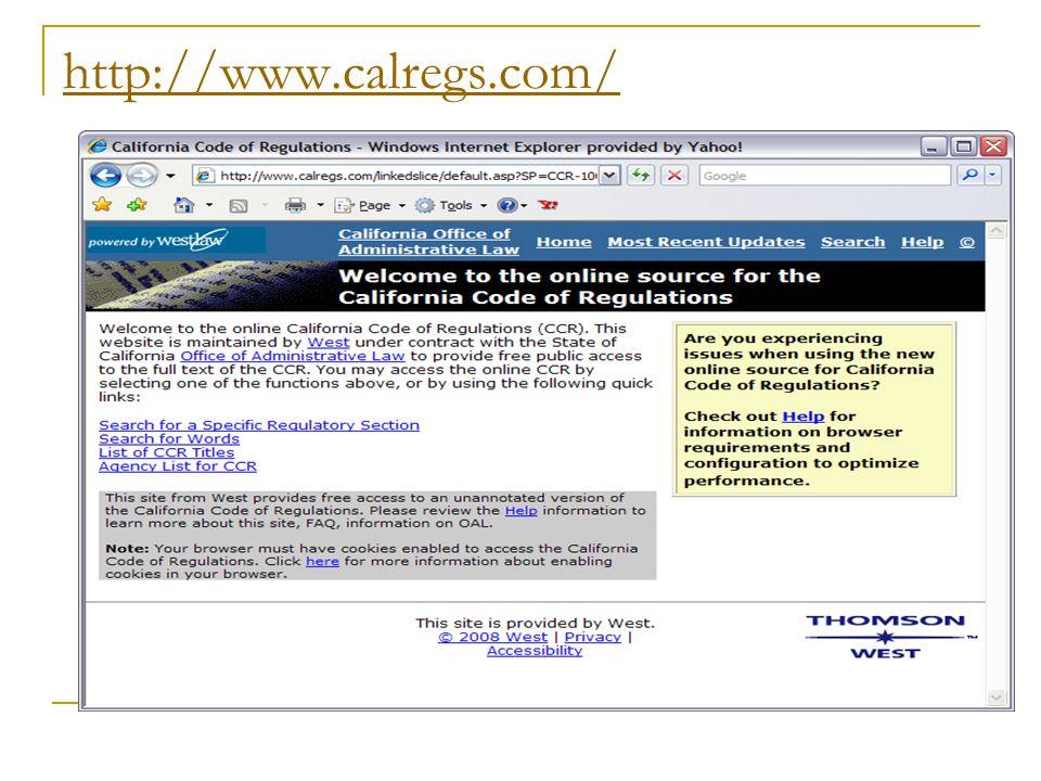 http://www.calregs.com/