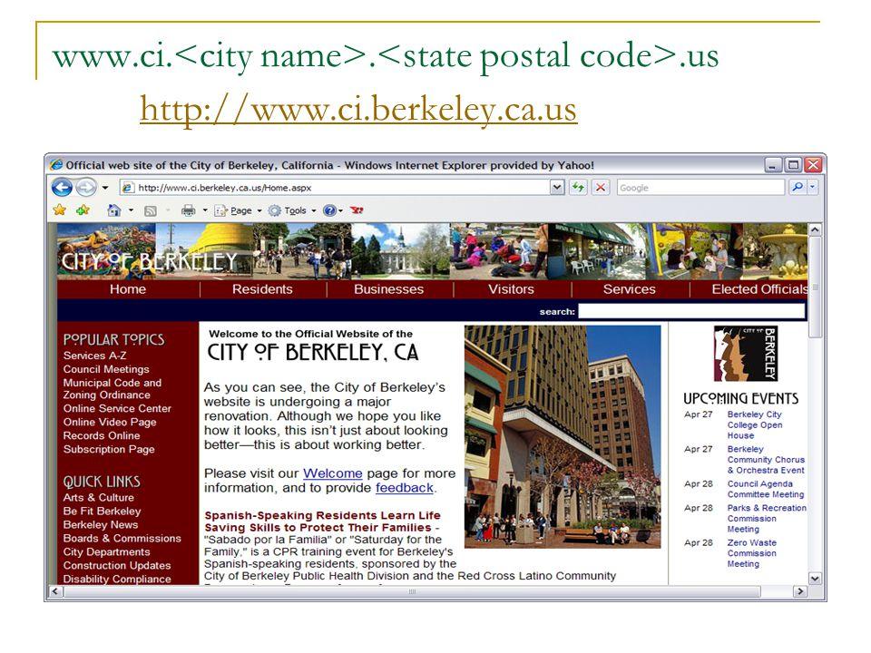 www.ci...us http://www.ci.berkeley.ca.us http://www.ci.berkeley.ca.us