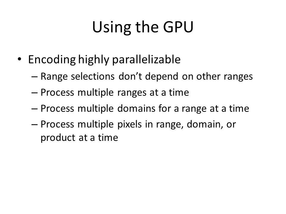 GPU vs CPU CPU, 4:2GPU, 4:2 GPU has speckle noise – Probably due to lower accuracy
