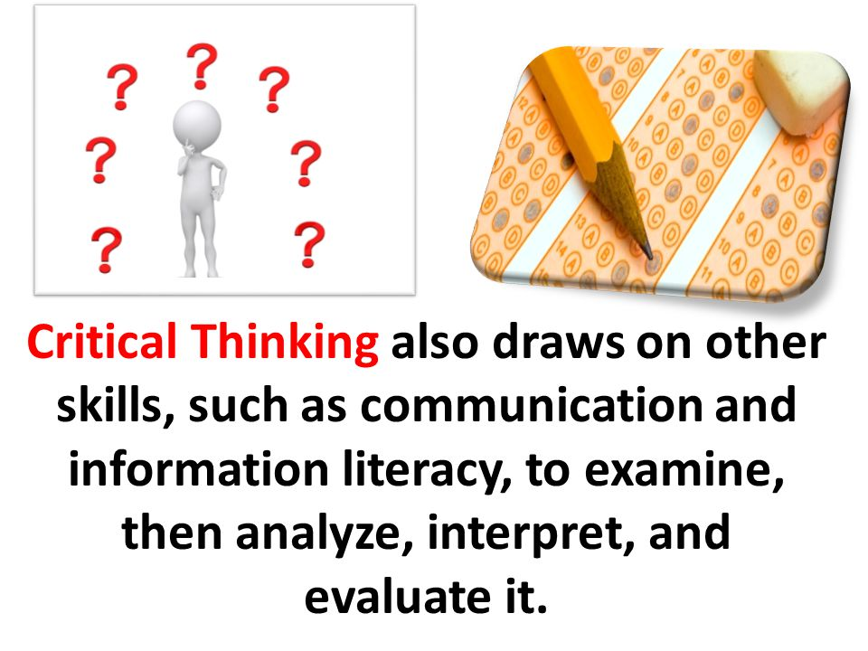 critical thinking presentation on education