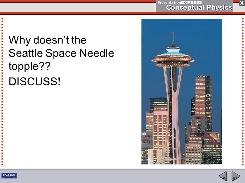 Why doesn't the Seattle Space Needle topple?? DISCUSS!