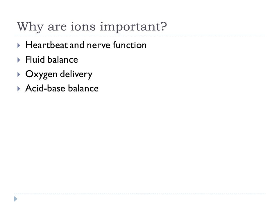 Why are ions important.