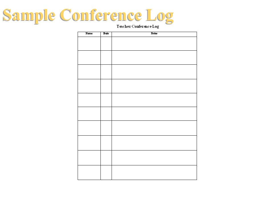 Sample Conference Log