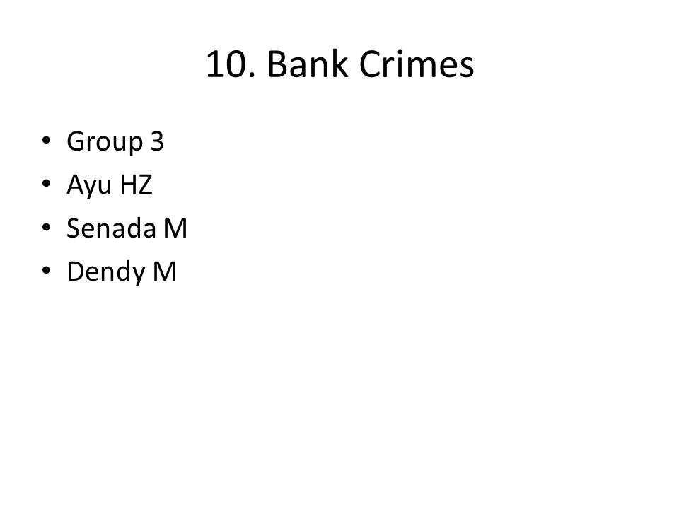 10. Bank Crimes Group 3 Ayu HZ Senada M Dendy M
