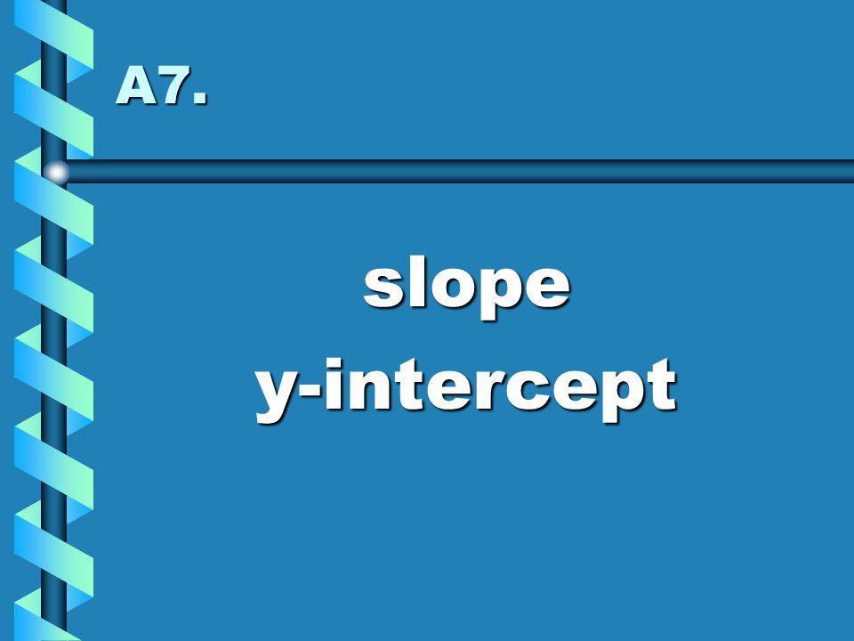 A7. slopey-intercept