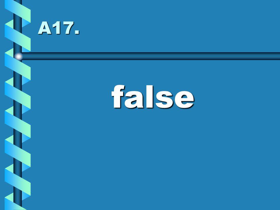 A17. false