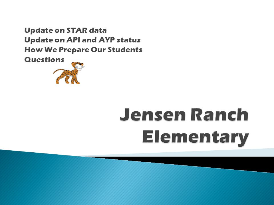 Update on STAR data Update on API and AYP status How We Prepare Our Students Questions
