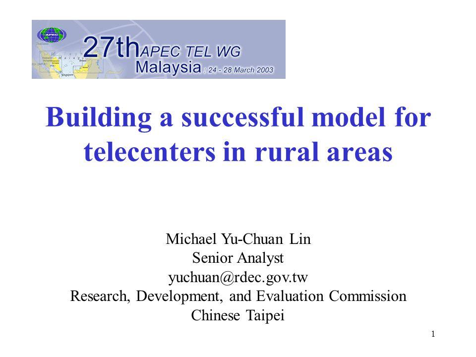 2 What telecenter? Internet access center Information training/promotion center