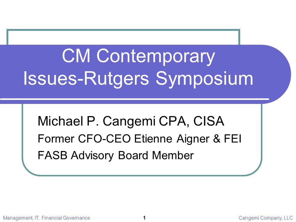 CM Contemporary Issues-Rutgers Symposium Michael P.