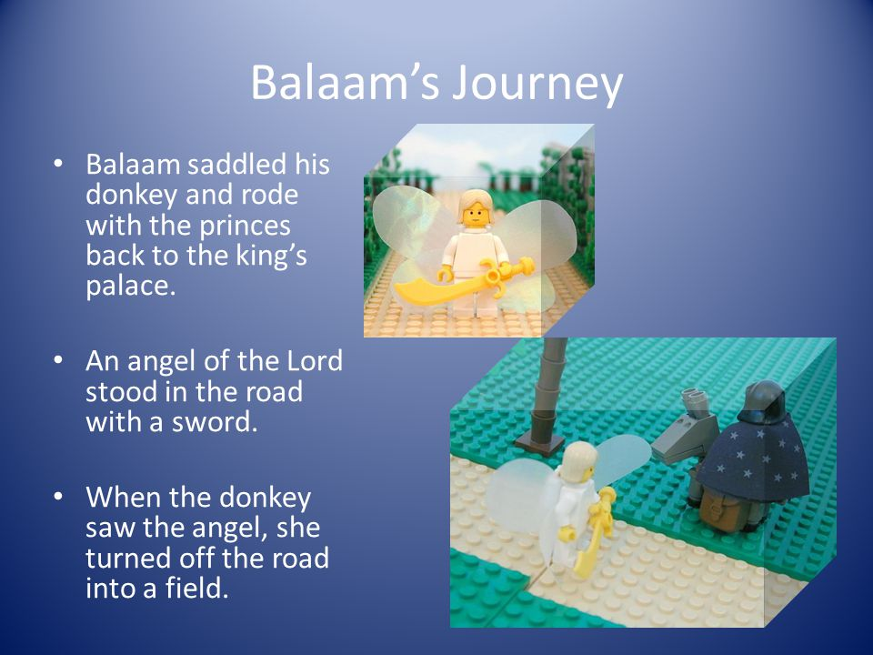 Balaam's Second Visitors The king sent more distinguished princes to ask Balaam to help them.