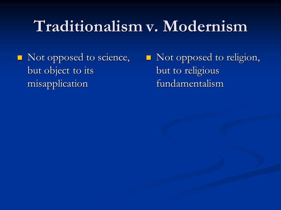 Traditionalism v.