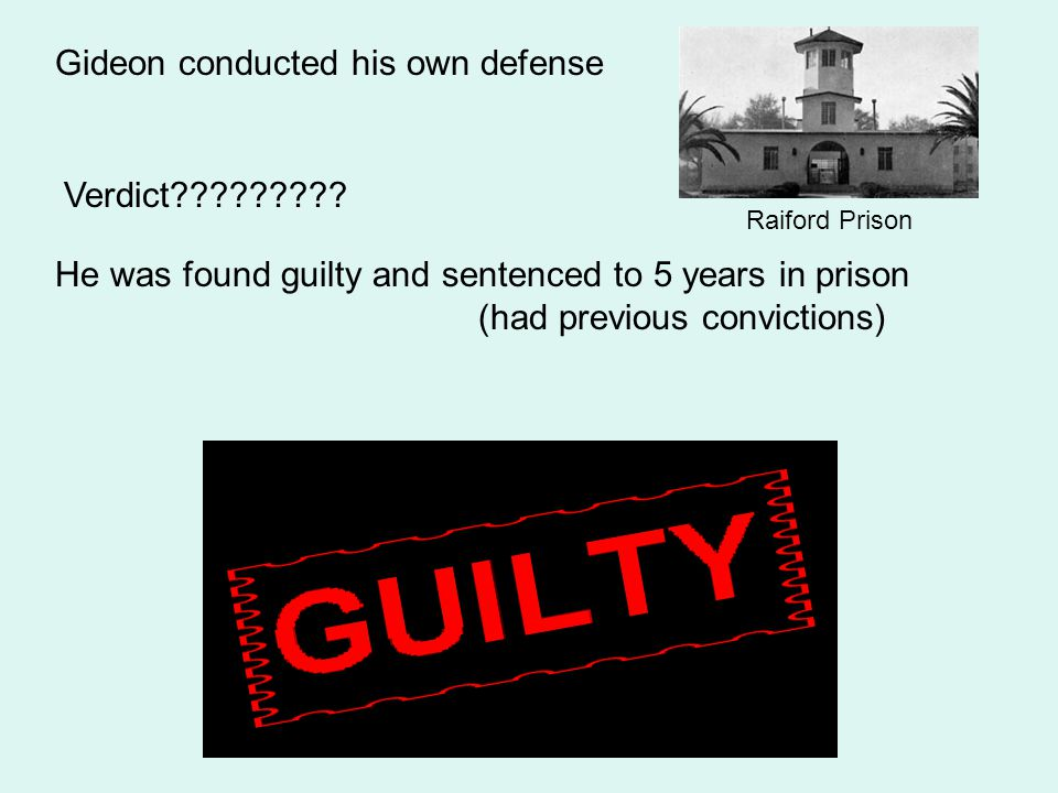 At trial- Gideon requested a court appointed lawyer (He couldn't afford his own) Judge refused his request Florida only provided free counsel if your