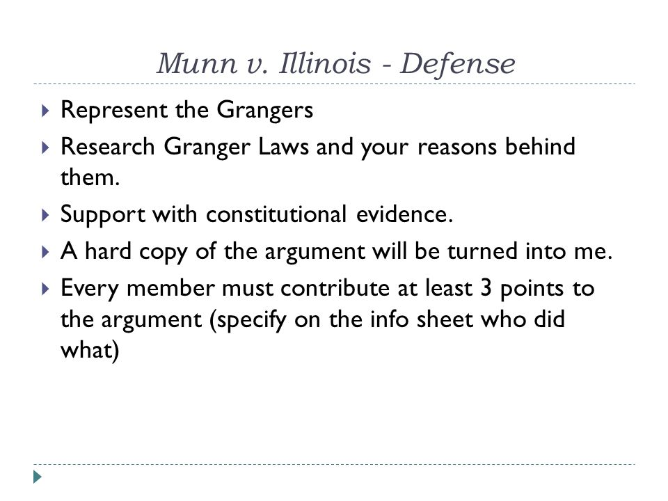  Research the Constitution.Your job is to interpret the constitutionality of the Granger Laws.