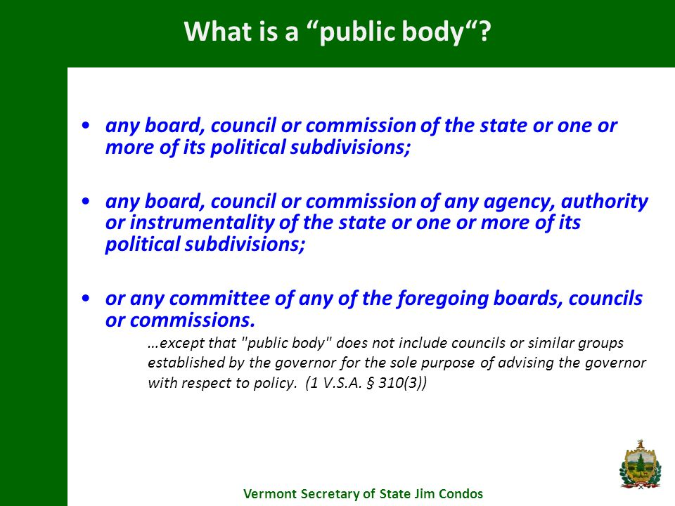 Are There Penalties.Vermont Secretary of State Jim Condos 1 V.S.A.