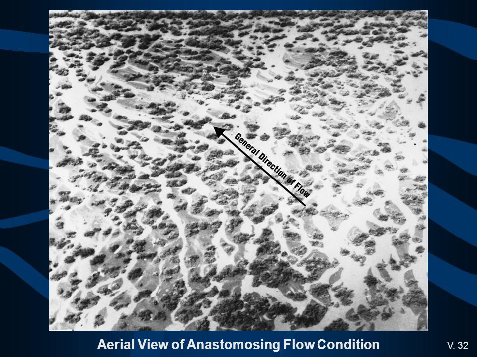 V. 32 Aerial View of Anastomosing Flow Condition