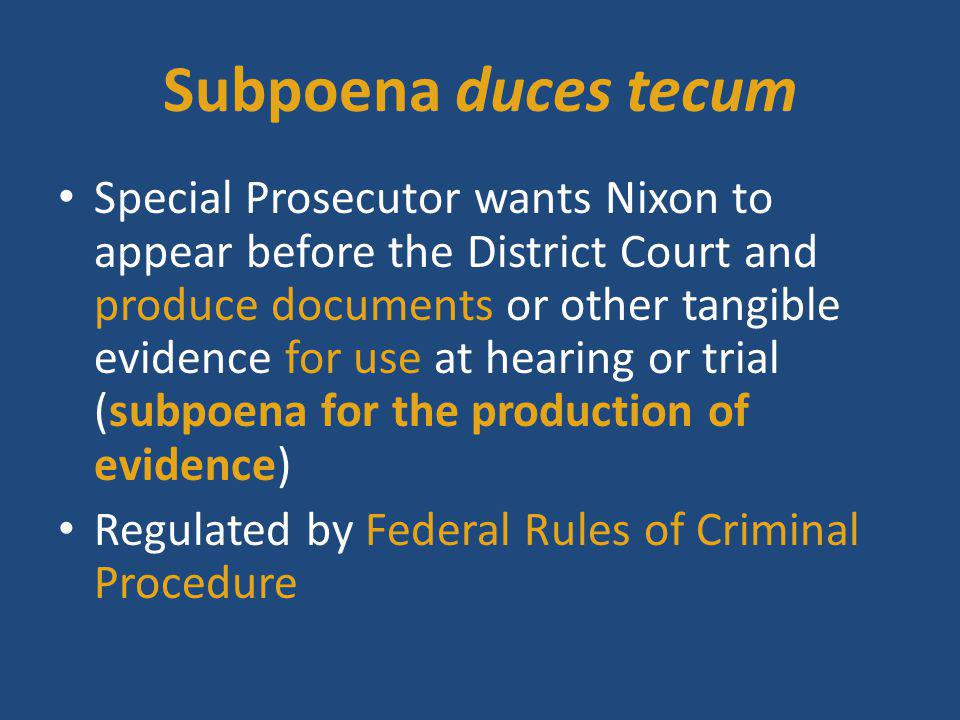 Fed.Rule Crim. Proc. 17(c) Rule 17. Subpoena c) Producing documents and objects (1) In General.