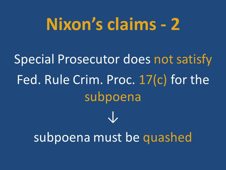 Characteristics of subpoena duces tecum in criminal cases - I Bowman Dairy Co.