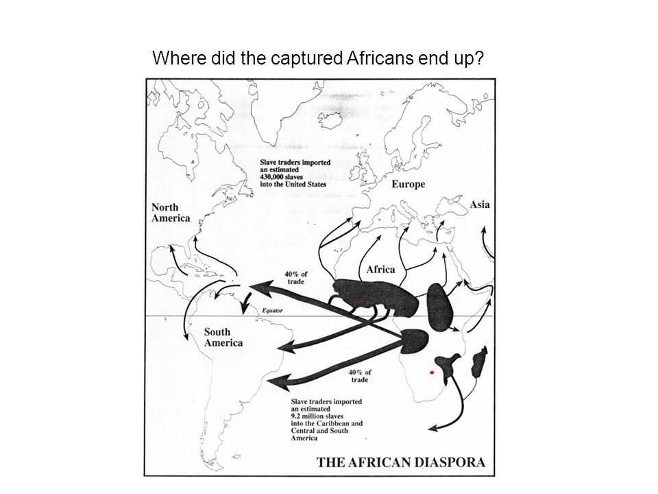 Where did the captured Africans end up?
