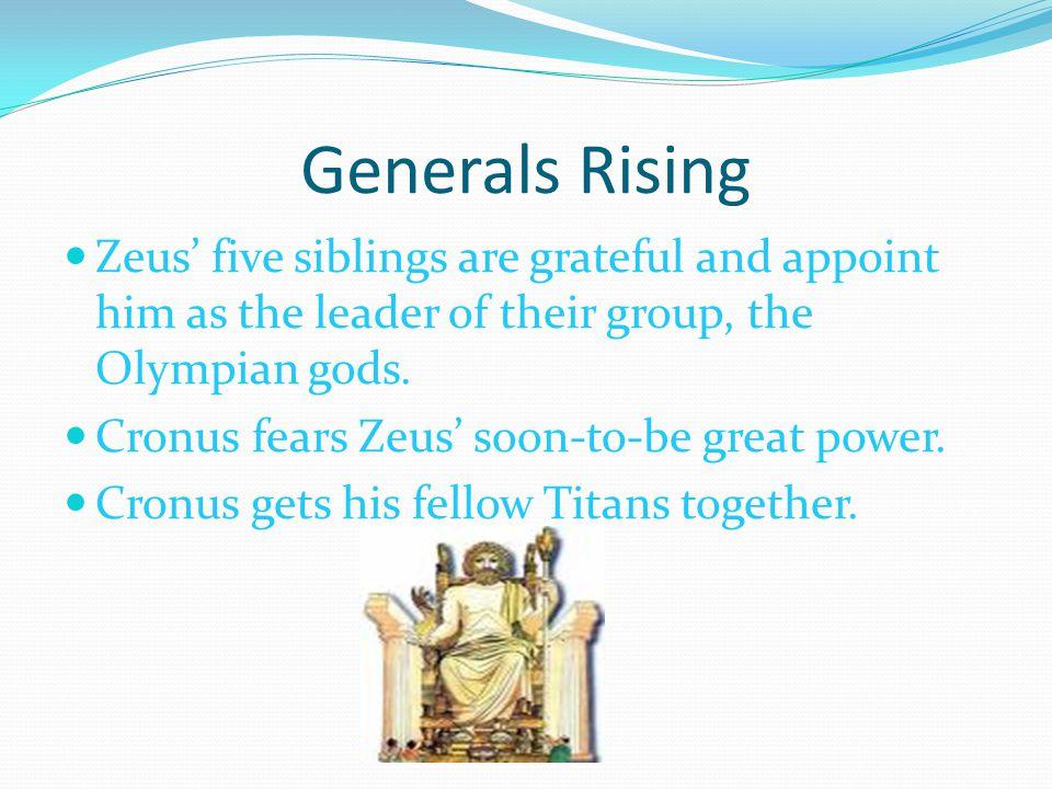 A Reason to Fight Titan women do not join Cronus, and two titan men, Prometheus and Epimetheus join the Olympians instead of Cronus.