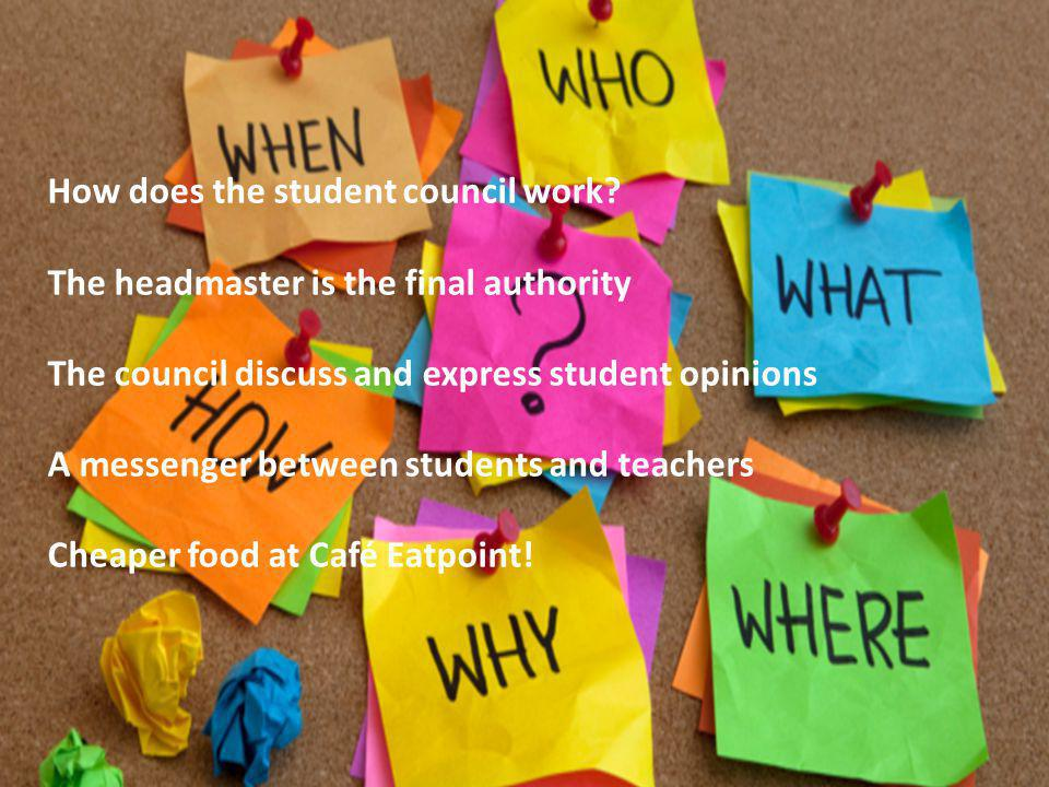How does the student council work.