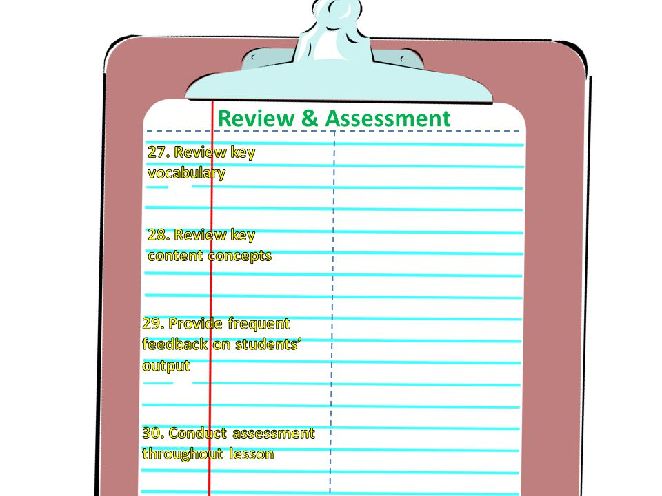 Review & Assessment